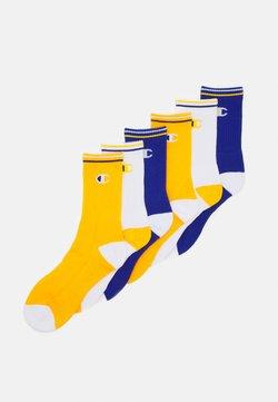 Champion - CREW SOCKS PERFORMANCE 6 PACK - Sportsocken - mix blue/white/yellow
