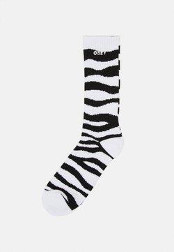 Obey Clothing - ZEBRA SOCKS - Socken - black/white