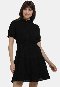 myMo - SOMMERKLEID - Vestido camisero - schwarz