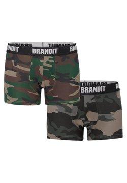 Brandit - 2 PACK - Panties - woodland/darkcamo