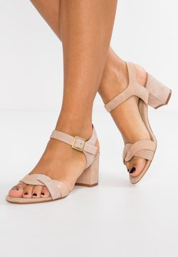 Anna Field - LEATHER HEELED SANDALS - Riemensandalette - nude