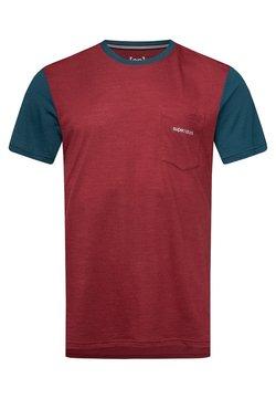super.natural - MOVEMENT - T-Shirt print - earth red/blue