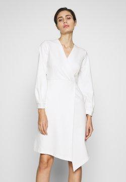 Closet - CLOSET LONG SLEEVE WRAP DRESS - Etuikleid - ivory
