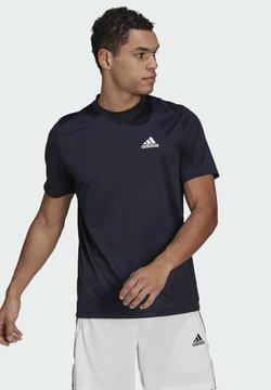 adidas Performance - AEROREADY DESIGNED TO MOVE - T-Shirt print - blue