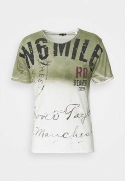 Key Largo - BEAVER CREEK ROUND - T-shirt print - khaki