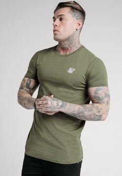 SIKSILK - SHORT SLEEVE GYM - Camiseta básica - khaki