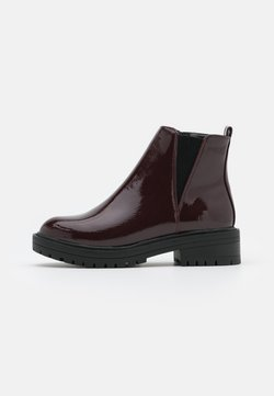 New Look - BOPIT CHELSEA CHUNKY - Platform ankle boots - dark red