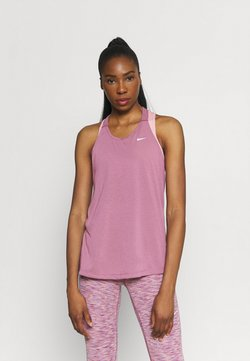Nike Performance - DRY ELASTIKA TANK - Funktionsshirt - light mulberry/white