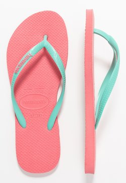 Havaianas - SLIM FIT LOGO - Varvassandaalit - porcelain rose/green dew