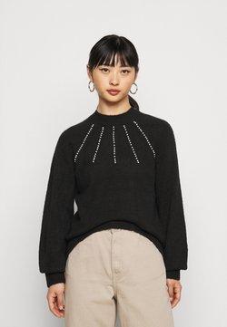 Vero Moda Petite - VMPEPPY HIGHNECK  - Jersey de punto - black