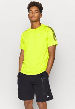 ASICS - ICON - Camiseta estampada - lime zest/performance black