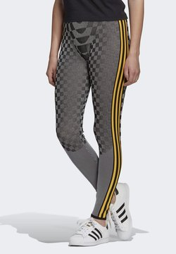 adidas Originals - PAOLINA RUSSO REF COLLAB SPORTS INSPIRED SLIM TIGHTS - Leggings - black/reflective silver/active gold