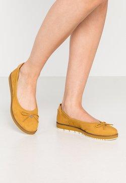 Tamaris - Ballerinaskor - mustard