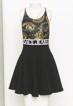 Versace Jeans Couture - DRESS - Jerseyjurk - black/gold