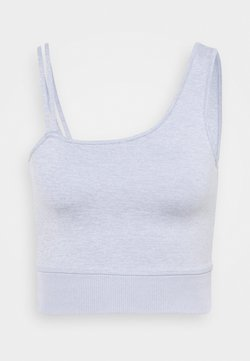 Cotton On Body - RUN WITH IT ONE SHOULDER VESTLETTE - Sujetador deportivo - baltic blue marle