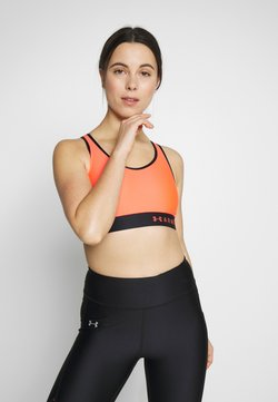 Under Armour - MID KEYHOLE BRA - Sport BH - beta/black
