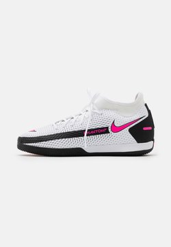 Nike Performance - PHANTOM GT ACADEMY DF IC - Indoor football boots - white/pink blast/black