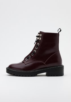 ONLY SHOES - ONLBOLD LACE UP BOOT  - Plateaustiefelette - burgundy