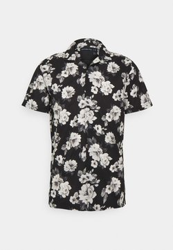 Abercrombie & Fitch - SUMMER RESORT - Hemd - black grounded large scale white