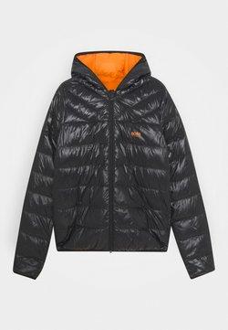 BOSS Kidswear - REVERSIBLE PUFFER JACKET - Doudoune - black/orange