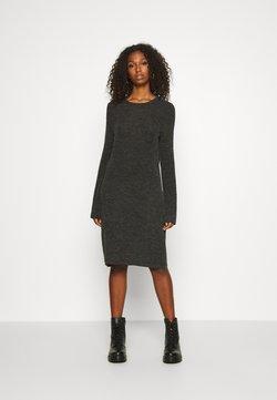 Noisy May - NMLUCIE ONECK DRESS - Sukienka dzianinowa - dark grey melange
