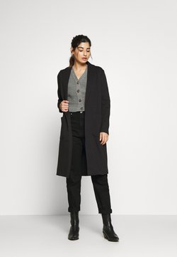 ONLY Petite - ONLSISSY DUSTER LONG COAT - Trench - black