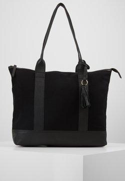 Anna Field - LEATHER/COTTON - Shoppingväska - black