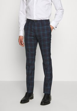 PS Paul Smith - MENS TROUSER CHECKED - Suit trousers - navy