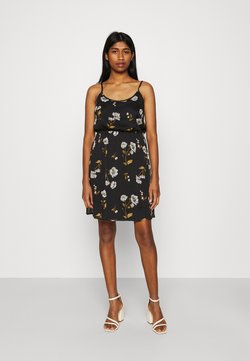 Vero Moda - VMMELLIE SINGLET SHORT DRESS - Jerseyjurk - black/mellie