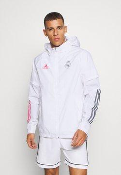 adidas Performance - REAL MADRID SPORTS FOOTBALL JACKET - Vereinsmannschaften - white