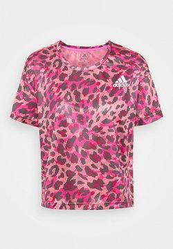 adidas Performance - PRIMEBLUE TEE - Camiseta estampada - light pink