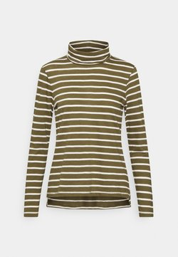 Madewell - WHISPER TURTLENECK IN LOBSTER STRIPE - Langarmshirt - lighthouse