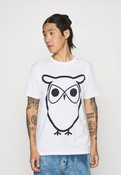 KnowledgeCotton Apparel - ALDER BASIC OWL TEE  - Printtipaita - bright white