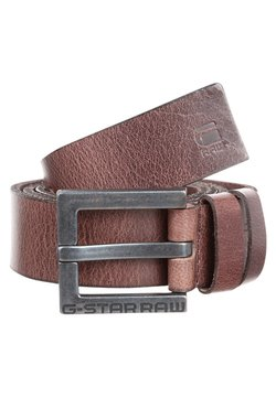 G-Star - DUKO  - Belt - dark brown/black metal