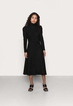 ONLY Petite - ONLNELLA ROLL NECK DRESS - Neulemekko - black
