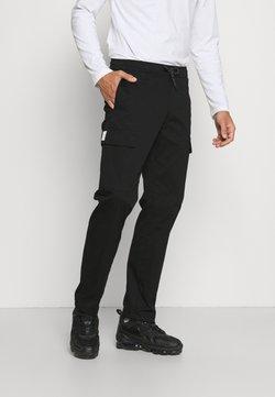 Woodbird - FRAIL LOORIX PANT - Cargo trousers - black