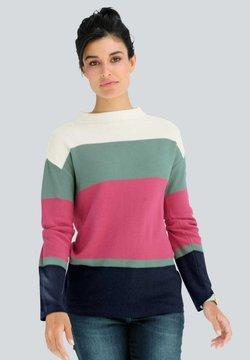 Alba Moda - Strickpullover - off-white,fuchsia,salbeigrün