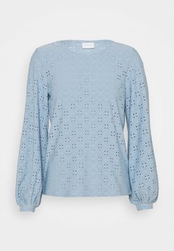 Vila - VITRESSY DETAIL ONECK - Pitkähihainen paita - ashley blue