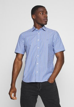 Marc O'Polo - KENT COLLAR,SHORT SLEEVE,INSERTED - Hemd - combo/cashmere blue