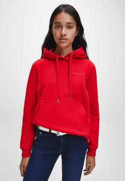Calvin Klein Jeans - LOGO TRIM HOODIE - Kapuzenpullover - red hot