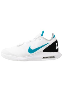 Nike Performance - NIKECOURT AIR MAX WILDCARD - Zapatillas de tenis para todas las superficies - white/neon turquoise/grey fog/hot lime