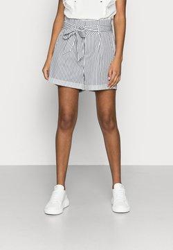Vero Moda Petite - VMEVA PAPERBAG COT - Shorts - snow white/navy