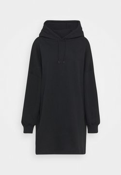 NU-IN - OVERSIZED HOODIE DRESS - Freizeitkleid - black