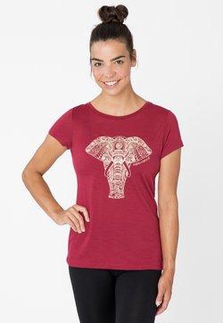 super.natural - POWER ELEPHANT - T-Shirt print - rubinrot