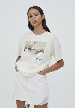 PULL&BEAR - T-Shirt print - beige