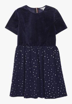 Tommy Hilfiger - PRINTED COMBI DRESS - Cocktailkleid/festliches Kleid - blue