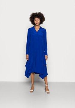 Marc O'Polo PURE - DRESS V-NECK - Freizeitkleid - dark blue