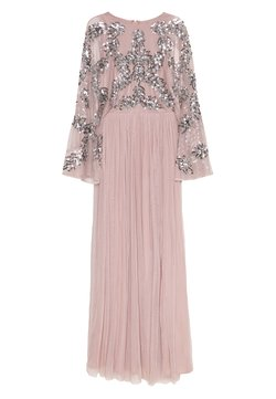 Maya Deluxe - CAPE SLEEVE MAXI DRESS WITH FLORAL EMBELLISHMENT - Ballkleid - frosted pink