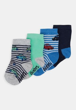 Ewers - BABY CARS RINGLET 4 PACK - Calcetines - navy/grey