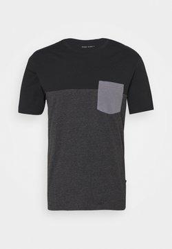 Pier One - T-shirt con stampa - black
